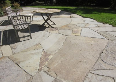Natural stone courtyard patio